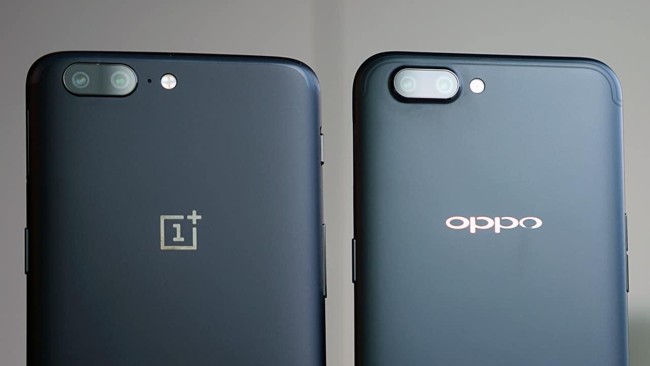 OnePlus, OnePlus 5, Oppo, Oppo R11, comparison, vergelijking