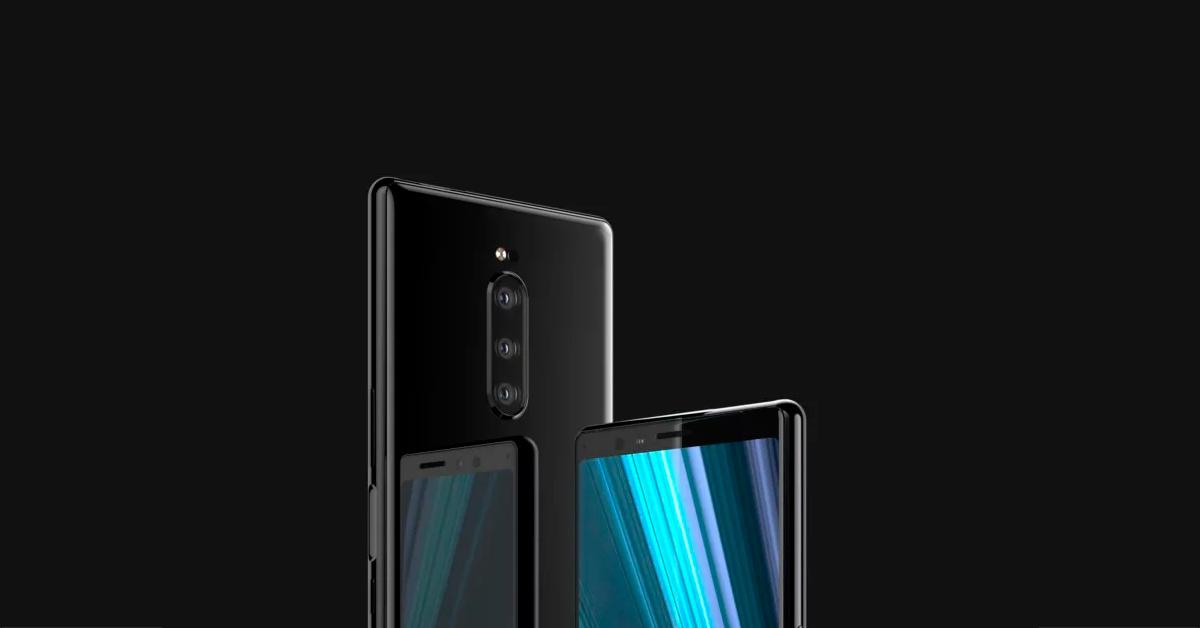 Renders Sony Xperia XZ4 met drie camera's gelekt