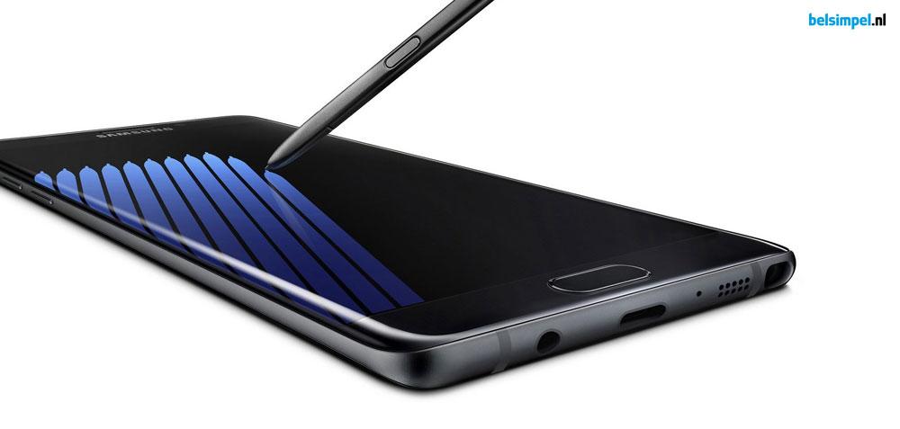Levering Samsung Galaxy Note 7 vertraagd