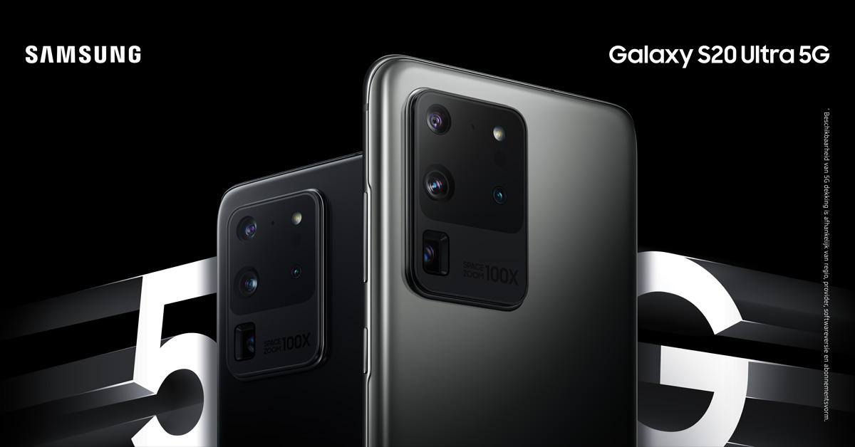 Nu te bestellen: de Samsung Galaxy S20-familie