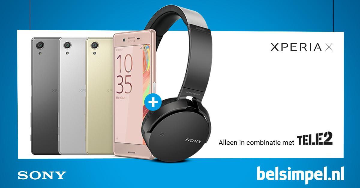 Headset cadeau bij aankoop Sony Xperia X met Tele2-abonnement