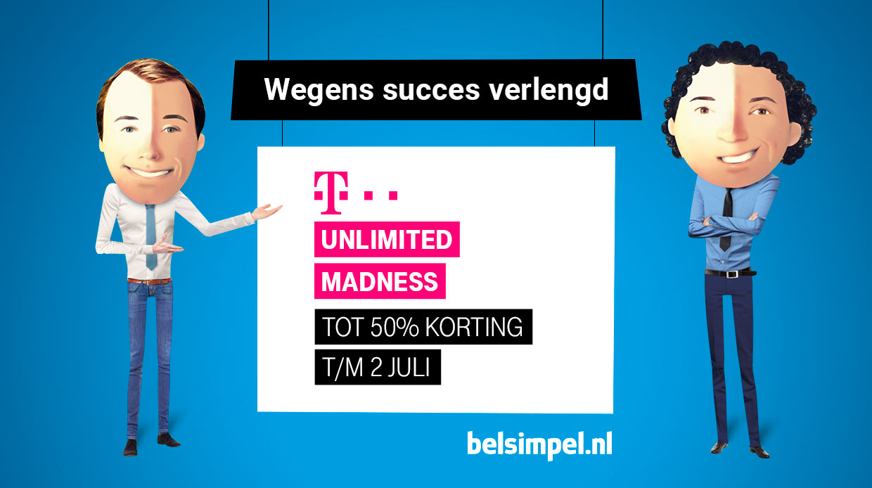 T-Mobile Unlimited Madness verlengd t/m 2 juli!