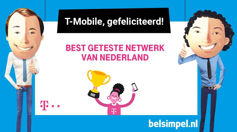 T-Mobile-netwerk heeft beste netwerk van Nederland!