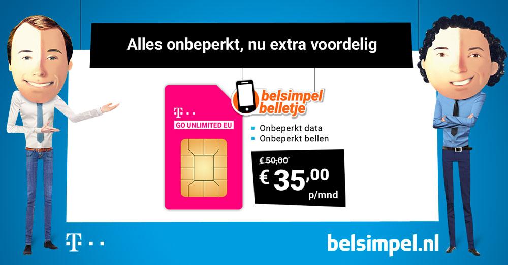 Go Unlimited EU: onbeperkt internetten en bellen ongekend goedkoop
