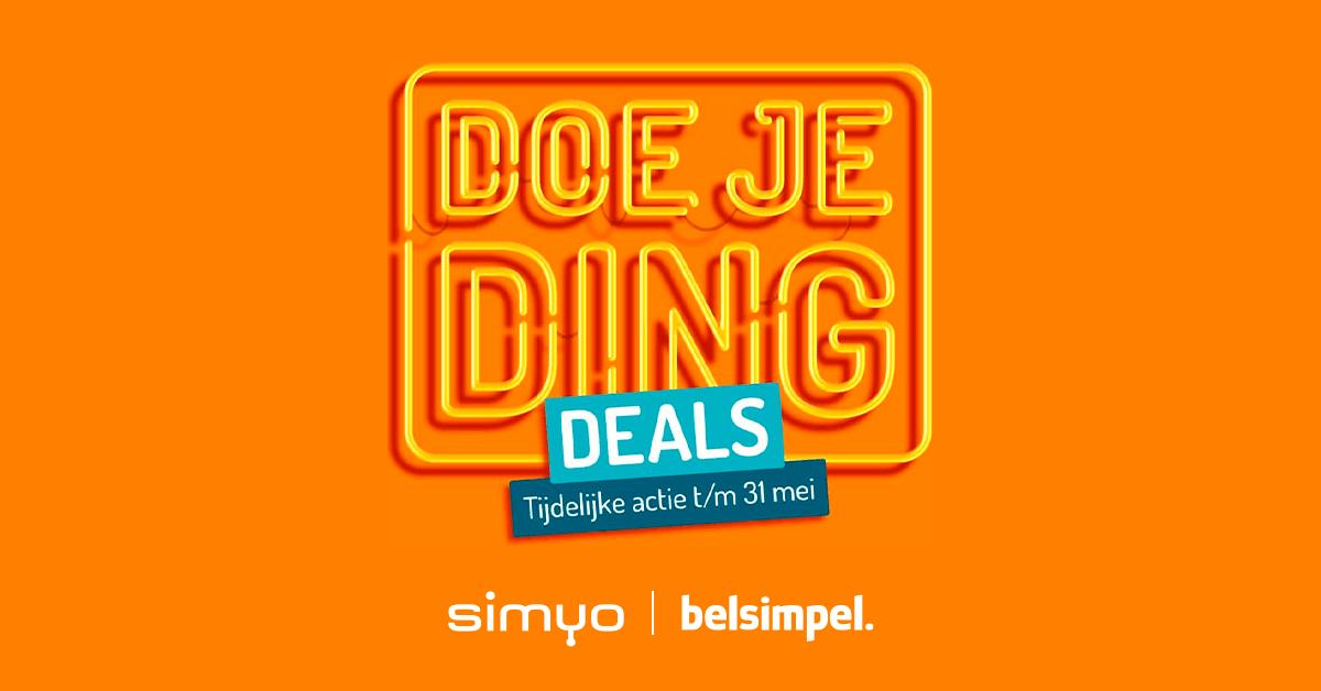 De Doe Je Ding Deals van Simyo bij Belsimpel