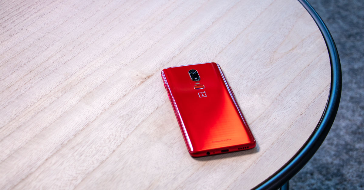 Dit is de OnePlus 6 Red!
