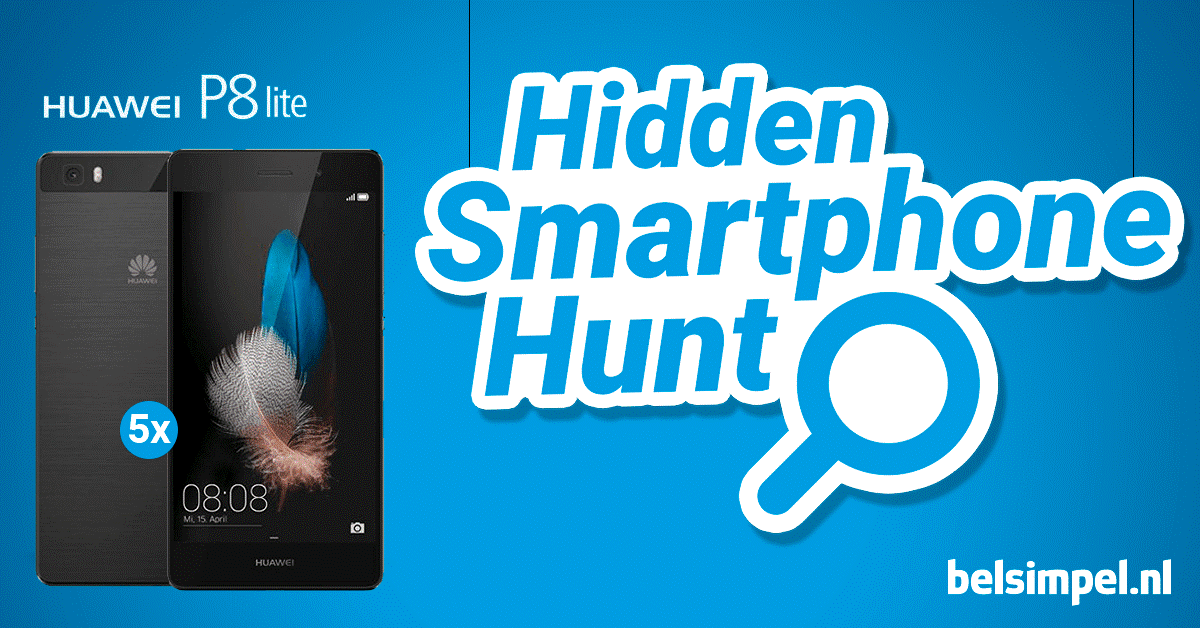 Doe mee met onze Hidden Smartphone Hunt!