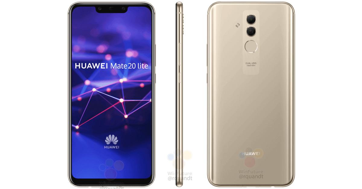 Renders van Huawei Mate 20 Lite online verschenen