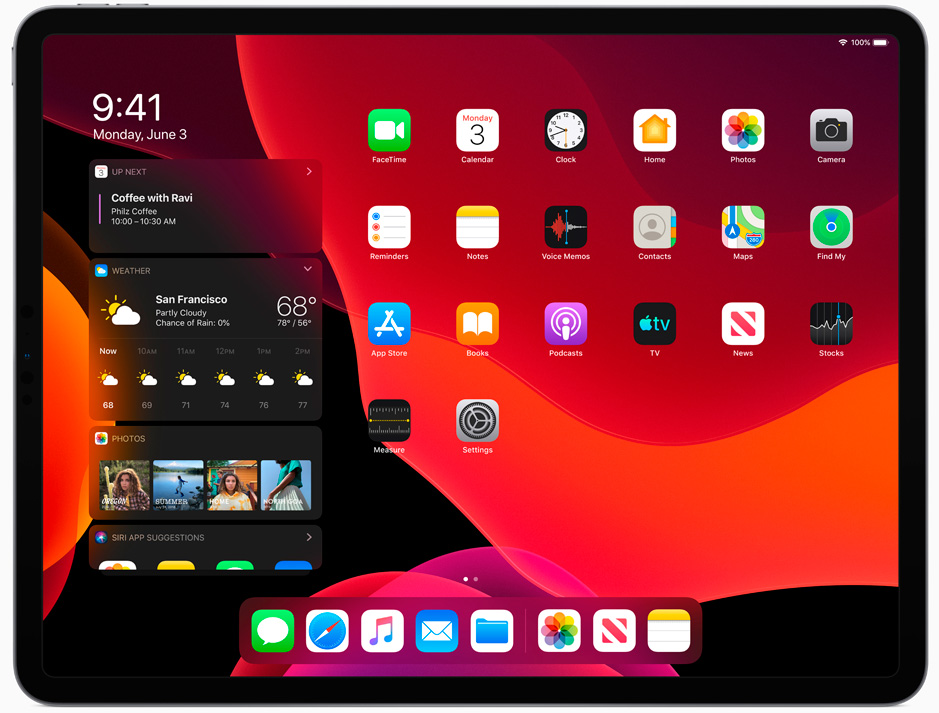 iPadOS Donkere modus