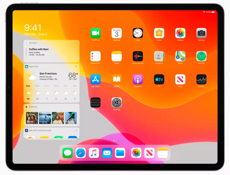 iPadOS nieuw beginscherm