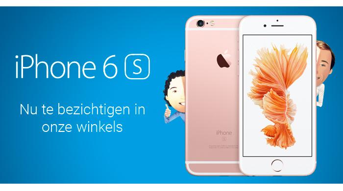 Vanaf morgen in alle Belsimpel.nl winkels te zien: de iPhone 6S