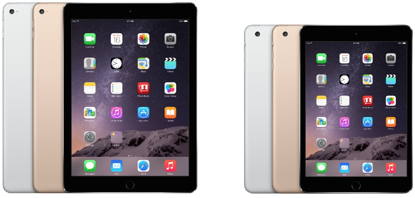 Apple presenteert iPad Air 2 en iPad Mini 3