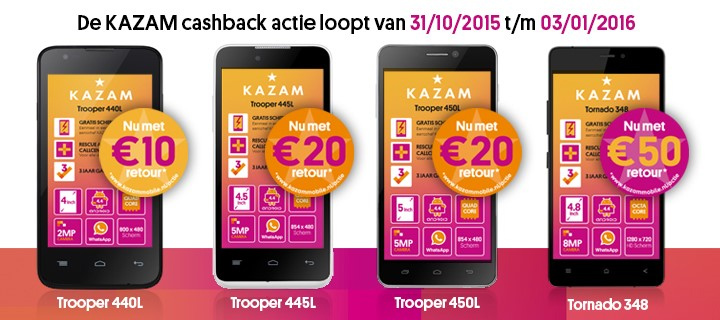 Profiteer nu bij Belsimpel.nl van de cashback actie van Kazam