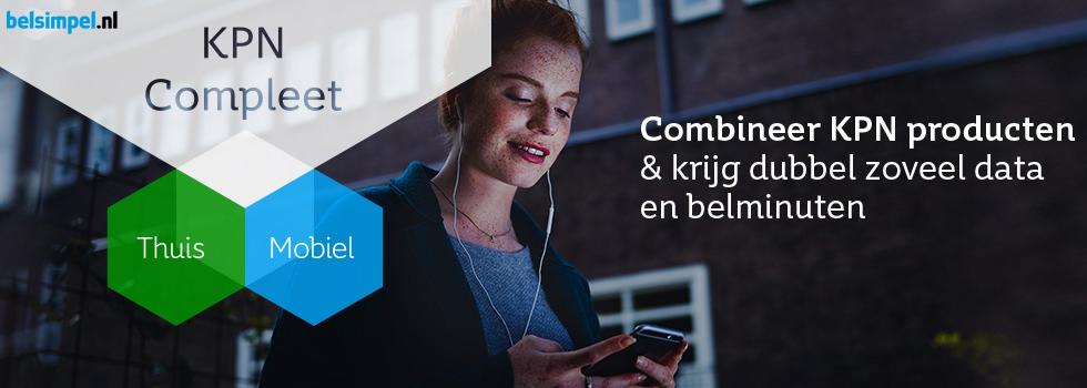 Krijg korting op je mobiele abonnement van KPN met KPN Compleet
