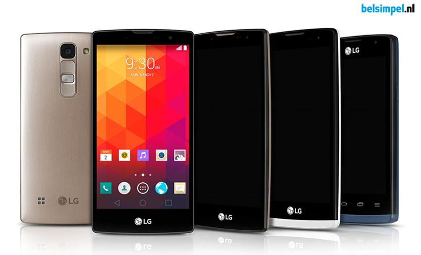 De vier nieuwe midrange smartphones van LG binnenkort bij Belsimpel.nl
