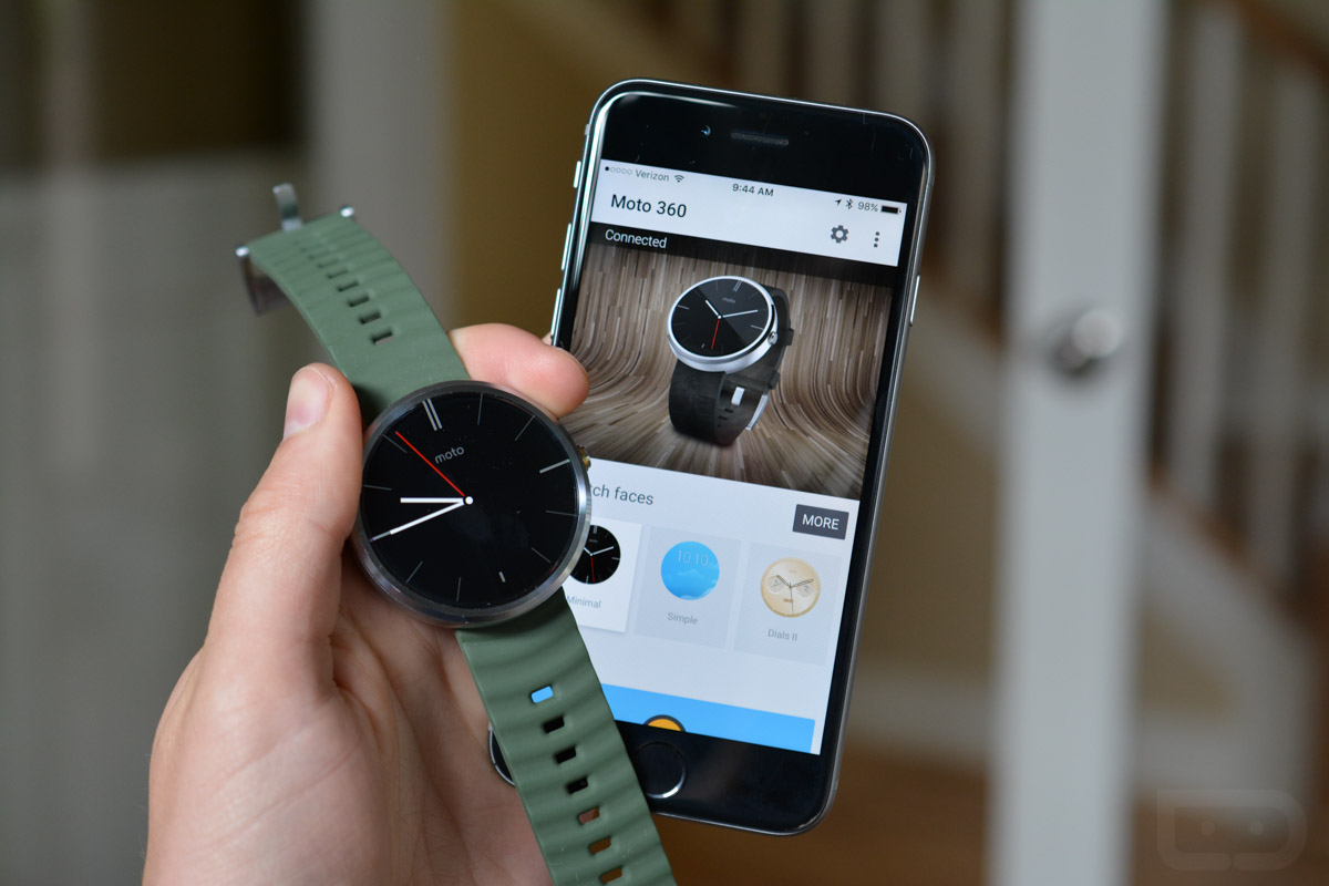 android wear met iphone