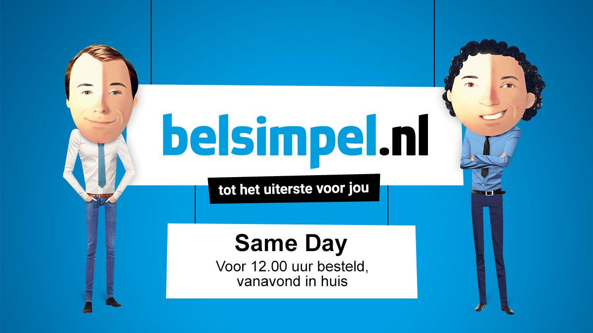 Nu bij Belsimpel.nl: vandaag besteld, vanavond in huis!