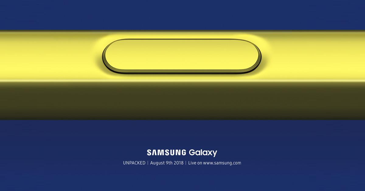 Samsung Unpacked 2018: Samsung presenteert Galaxy Note 9 op 9 augustus