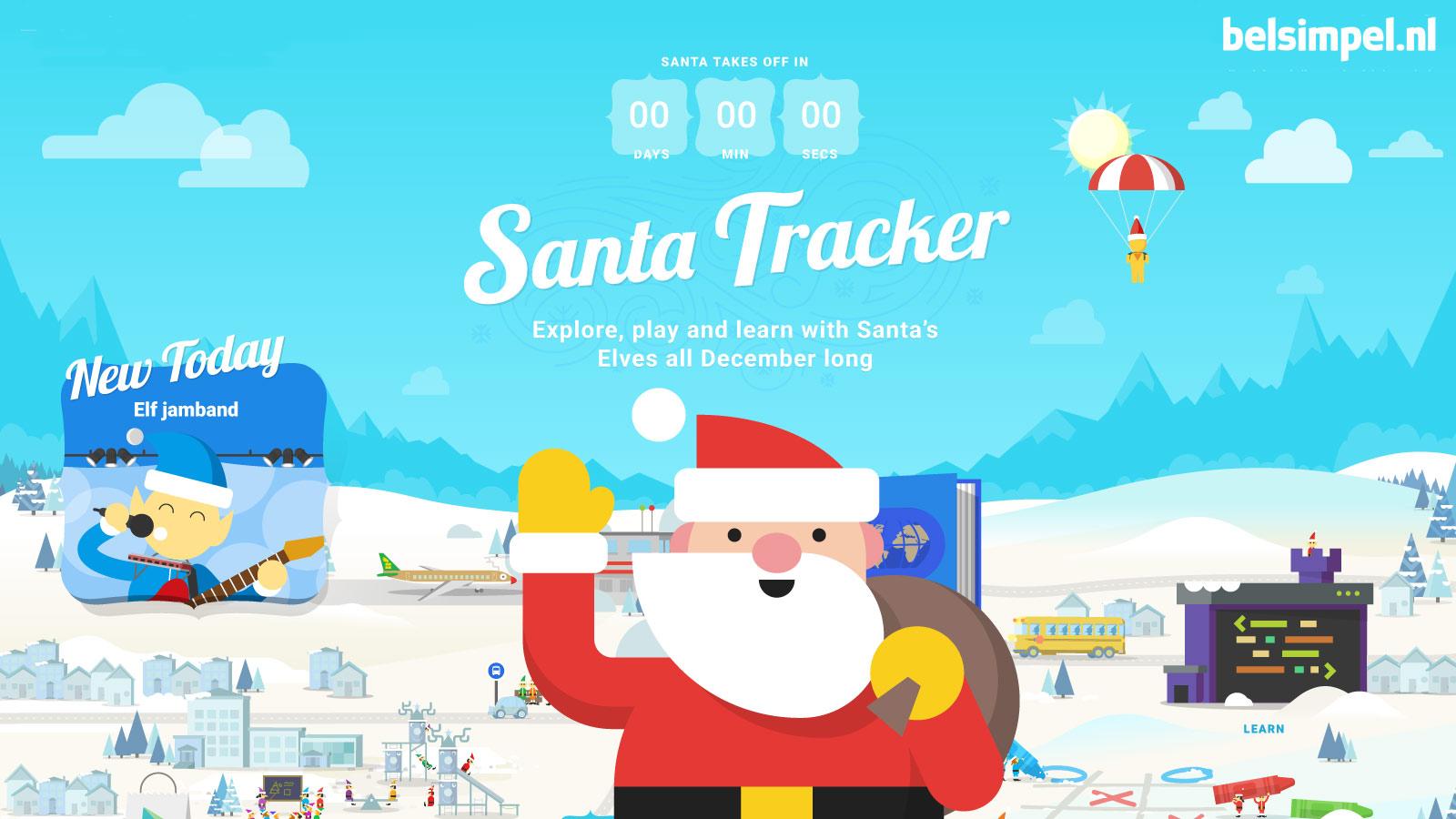 Volg de Kerstman  met de Santa Tracker van Google!