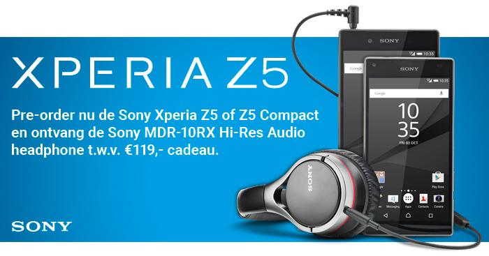 Sony presenteert Xperia Z5 en Xperia Z5 Compact