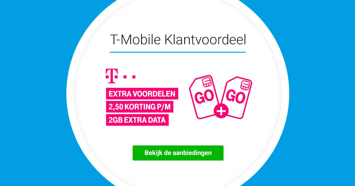 Het voordeel van T-Mobile Klantvoordeel