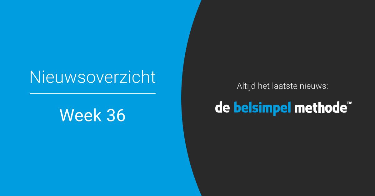 Telecomweekoverzicht van week 36 | 2018