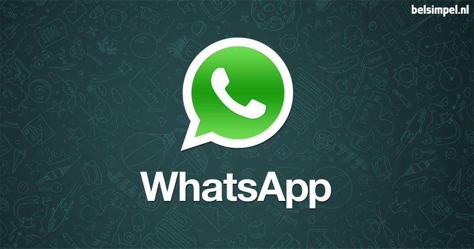 Delen van gebruikersdata en het gebruik van gifs, in WhatsApp