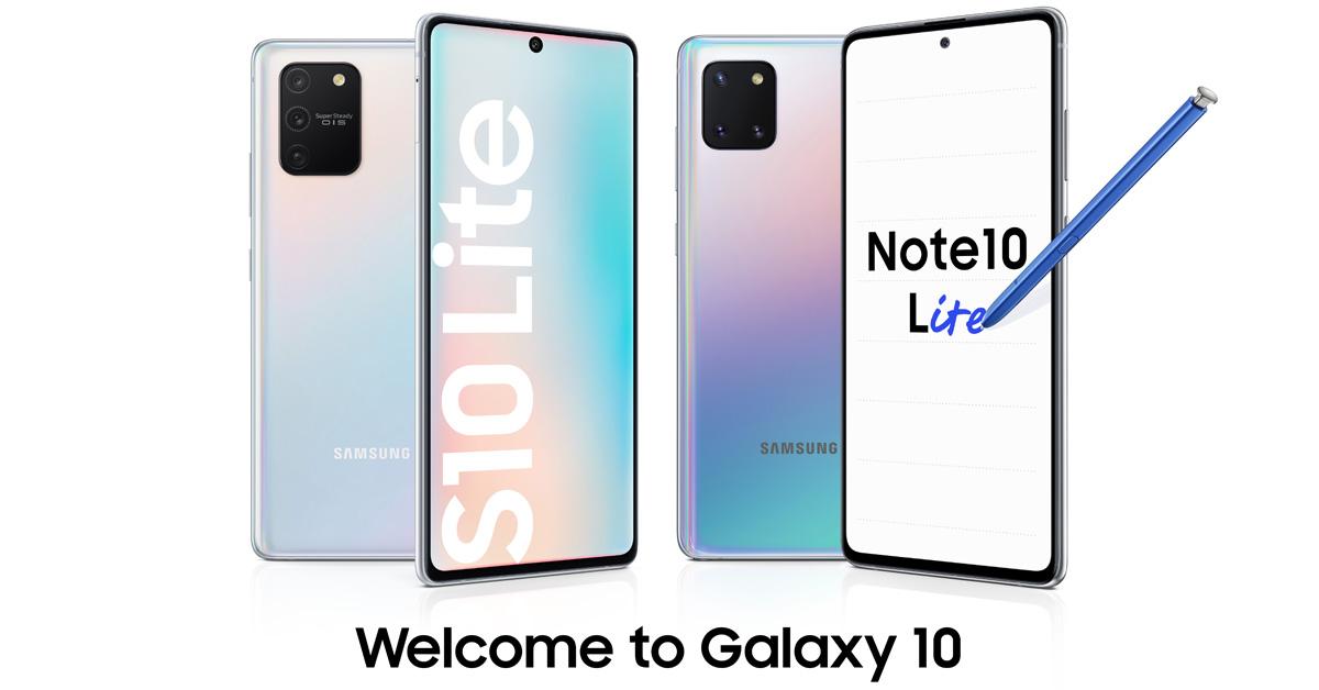 Samsung presenteert de Galaxy S10 Lite en de Galaxy Note 10 Lite