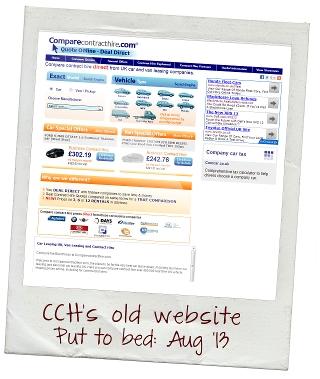 Screenshot of previous comparecontracthire.com design