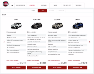 FCA Fleet websites