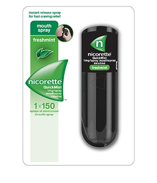 NICORETTE® QuickMist - 1mg/spray (approx. 150 sprays) single.
