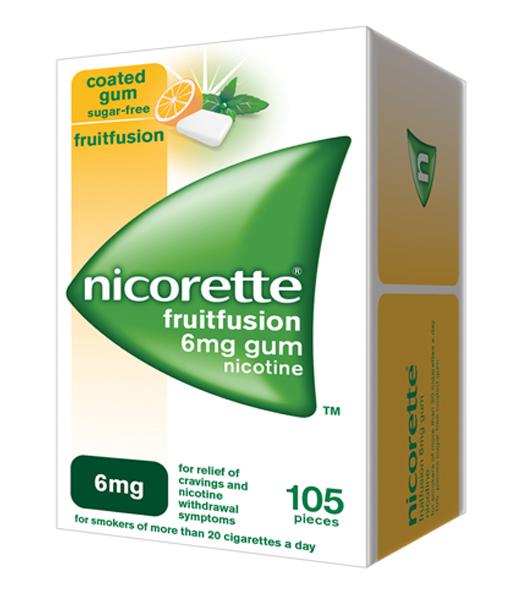 NICORETTE® Fruitfusion 6mg gum (105s)
