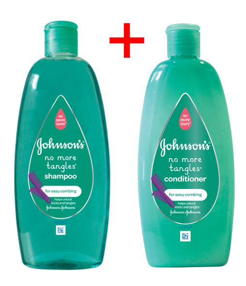 JOHNSON'S® NO MORE TANGLES® Shampoo & Conditioner