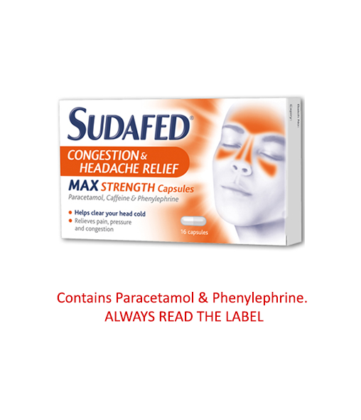 Sudafed® Congestion and Headache Max Strength