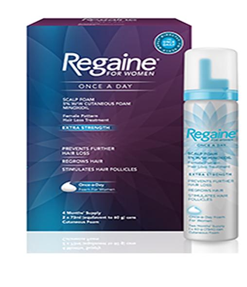 REGAINE® for Women Once a Day Scalp Foam 5% w/w Cutaneous Foam - Single or Double pack