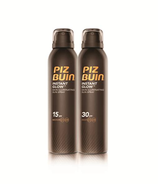 PIZ BUIN® Instant Glow Skin Illuminating Sun Spray