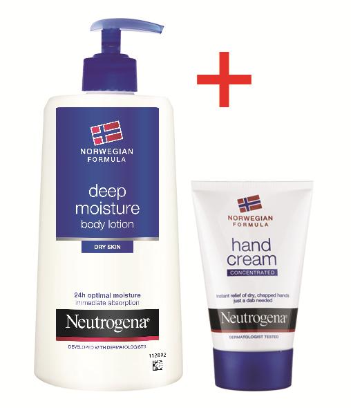 NEUTROGENA NORWEGIAN FORMULA® Deep Moisture Dry Body Lotion 400ml & Hand Cream 50ml