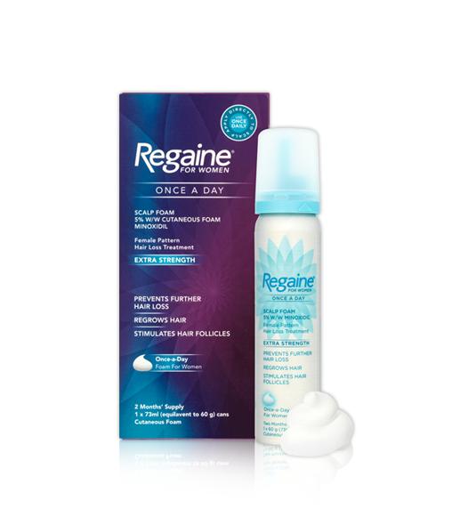 REGAINE® for Women Once a Day Scalp Foam 5% w/w Cutaneous Foam -All Retailers