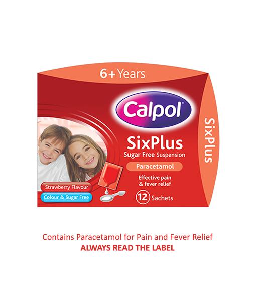 CALPOL® SixPlus Sugar Free Suspension Sachets