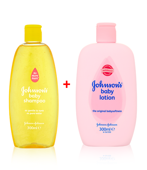 JOHNSON'S® Baby Shampoo & Baby Lotion when purchased together