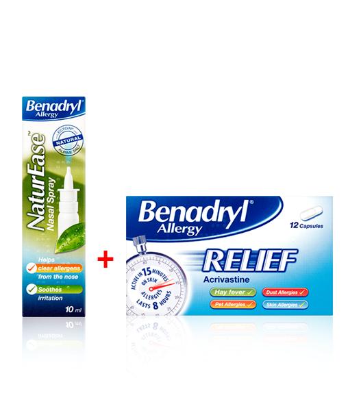 Benadryl® Allergy Relief 6s + NaturEase