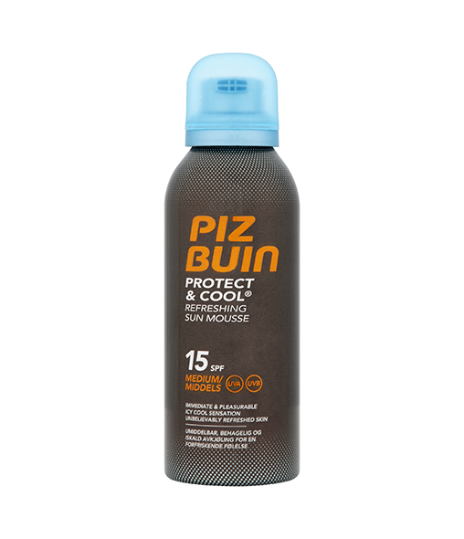 PIZ BUIN® Protect & Cool Refreshing Sun Mousse SPF15