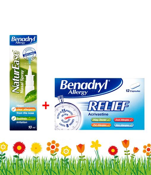 Benadryl® Allergy Relief 12s + NaturEase