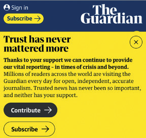 The Guardian - Contribute