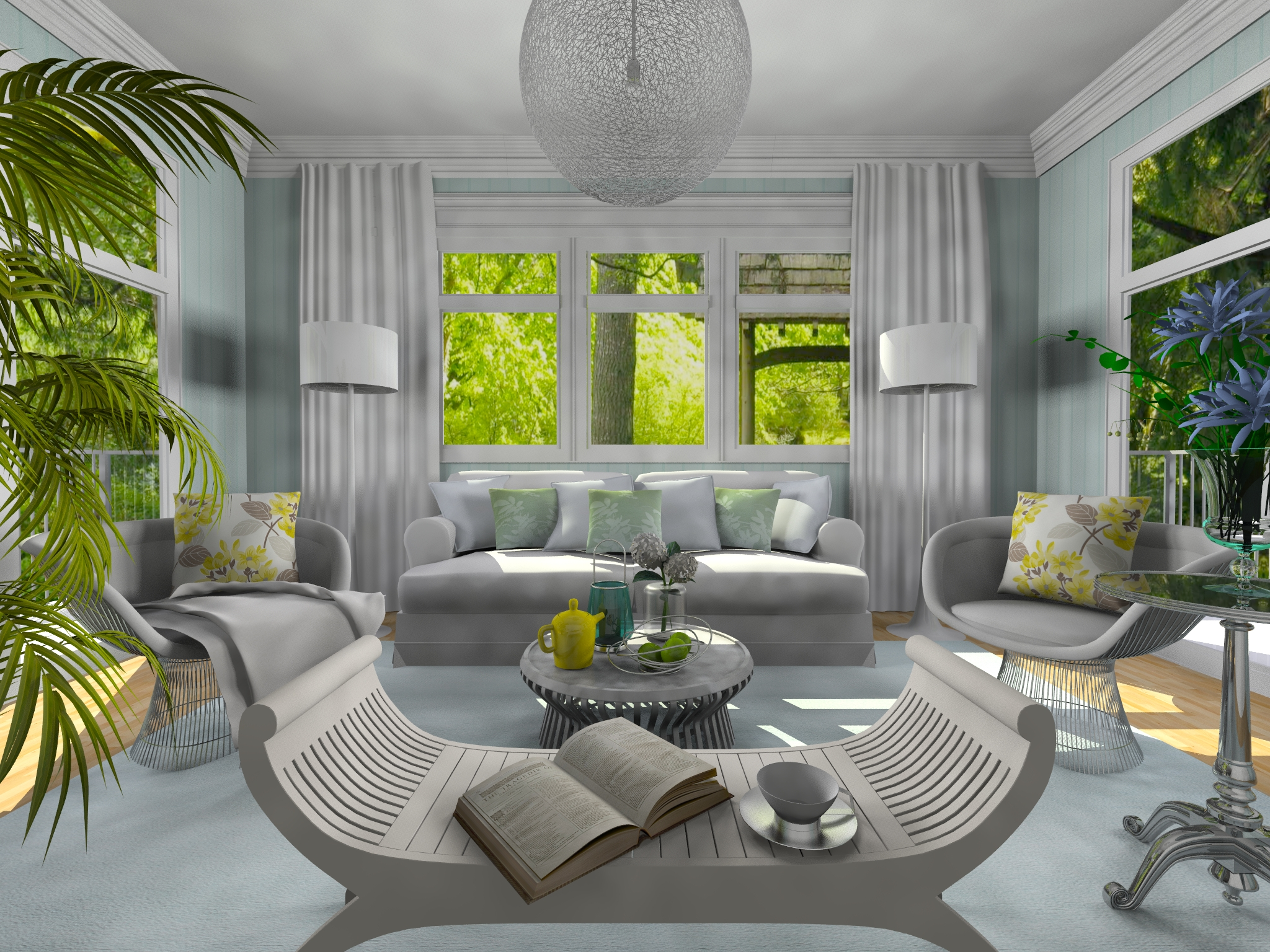 Roomstyler press page for Living room designs 3d