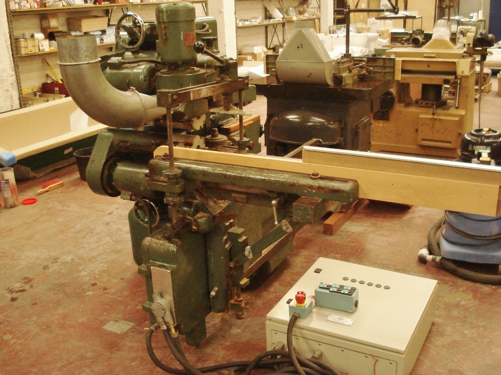 Bursgreen converted woodworking machine with comprehensive modern ...
