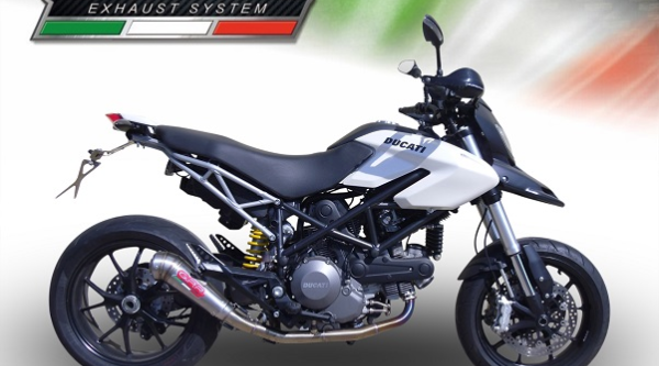 DUCATI HYPERMOTARD 796 2010//12 HOMOLOGATED FULL EXHAUST SYSTEM GPR FURORE NERO 2 IN 1