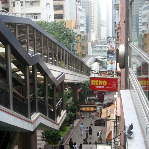 Central Escalator zu den Mid Levels