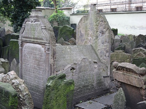 Старое еврейское кладбище. Надгробия Мордехая Майзела, Раввина Лива, Гендела Башеви. Ритуальный зал