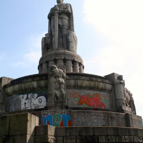 Das Beatles-Denkmal auf dem Berg Cartney